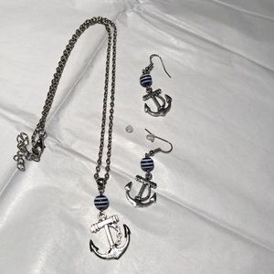 Set Anchor Necklace & Earnings